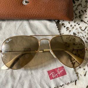 Standard original 58mm Rayban aviator sunglasses